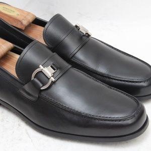 Salvatore Ferragamo Gancini Loafers 9.5 D Black
